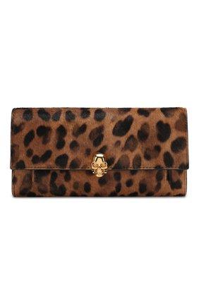 Женские кожаный кошелек на цепочке ALEXANDER MCQUEEN леопардового цвета, арт. 554196/CR30G | Фото 1