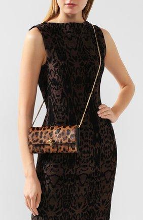 Женские кожаный кошелек на цепочке ALEXANDER MCQUEEN леопардового цвета, арт. 554196/CR30G | Фото 2