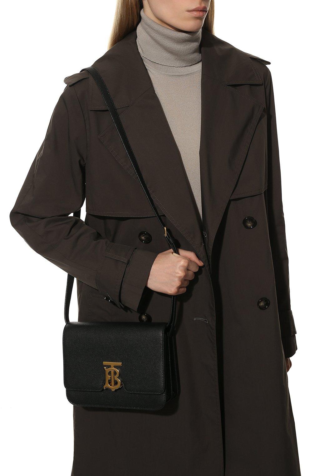Женская сумка tb small BURBERRY черного цвета, арт. 8019338 | Фото 2