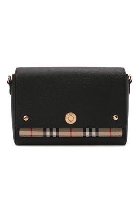 Женская сумка note medium BURBERRY черного цвета, арт. 8021110   Фото 1