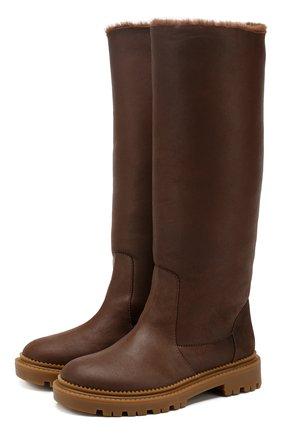 Женские кожаные сапоги CASADEI коричневого цвета, арт. 1S025N0211CALGA2608 | Фото 1