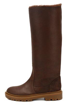 Женские кожаные сапоги CASADEI коричневого цвета, арт. 1S025N0211CALGA2608 | Фото 3