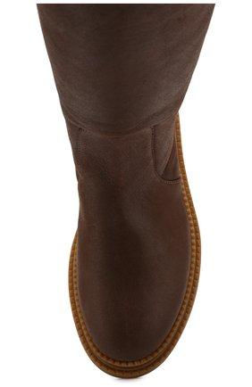 Женские кожаные сапоги CASADEI коричневого цвета, арт. 1S025N0211CALGA2608 | Фото 5