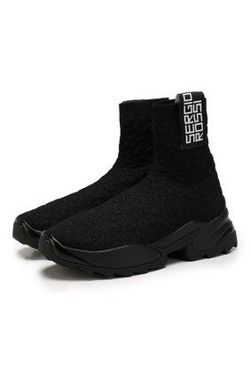 Женские текстильные кроссовки SERGIO ROSSI черного цвета, арт. A86770-MFN753 | Фото 1