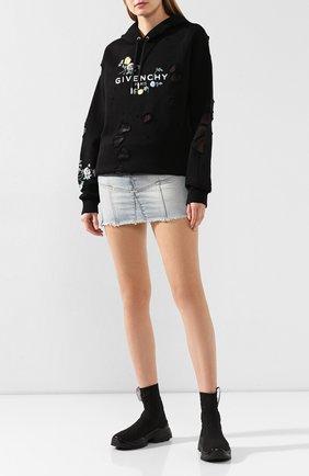 Женские текстильные кроссовки SERGIO ROSSI черного цвета, арт. A86770-MFN753 | Фото 2
