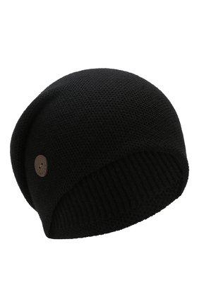 Женский кашемировая шапка INVERNI черного цвета, арт. 3792CMC1 | Фото 1