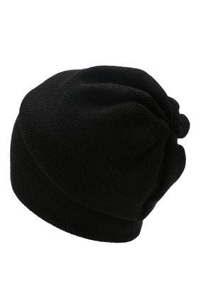 Женский кашемировая шапка INVERNI черного цвета, арт. 3792CMC1 | Фото 2
