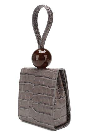 Женская сумка ball BY FAR серого цвета, арт. 18FWBALAGRDSMA | Фото 3 (Сумки-технические: Сумки top-handle; Материал: Натуральная кожа; Размер: mini)