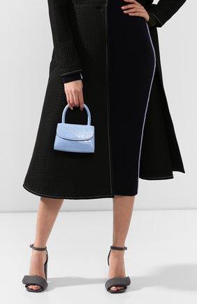 Женская сумка mini BY FAR голубого цвета, арт. 18FWMINASBDSMA   Фото 2