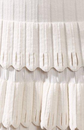 Женская юбка из смеси шерсти и вискозы ALAIA белого цвета, арт. 9W9JE30CM486 | Фото 5