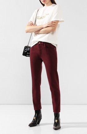 Женские джинсы GOLDEN GOOSE DELUXE BRAND бордового цвета, арт. G35WP008.B1 | Фото 2