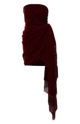 Женское бархатное платье OSCAR DE LA RENTA бордового цвета, арт. 19FE655CPV | Фото 1