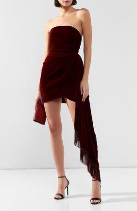 Женское бархатное платье OSCAR DE LA RENTA бордового цвета, арт. 19FE655CPV | Фото 2