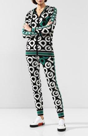 Женские шерстяные брюки DOLCE & GABBANA зеленого цвета, арт. FX552T/JAVPX | Фото 2