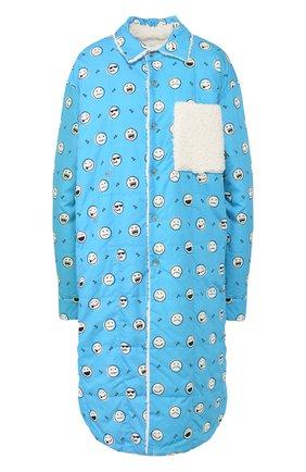 Женское хлопковое пальто NATASHA ZINKO синего цвета, арт. FW19409-30 | Фото 1