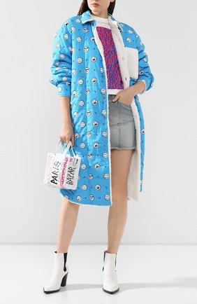 Женское хлопковое пальто NATASHA ZINKO синего цвета, арт. FW19409-30 | Фото 2