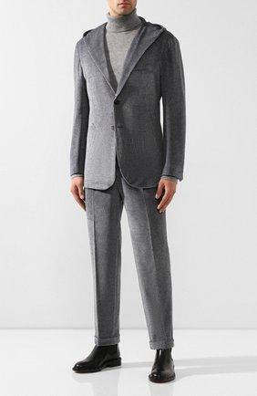 Мужской хлопковый костюм KNT темно-серого цвета, арт. UAS0104K01S75 | Фото 1