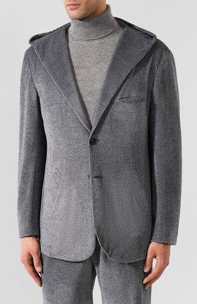 Мужской хлопковый костюм KNT темно-серого цвета, арт. UAS0104K01S75 | Фото 2