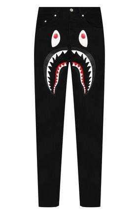 Мужские джинсы BAPE черного цвета, арт. 1F80150005 | Фото 1