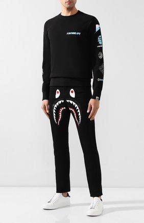 Мужские джинсы BAPE черного цвета, арт. 1F80150005 | Фото 2