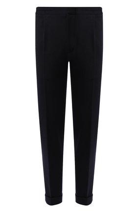Мужской шерстяные брюки KNT темно-синего цвета, арт. UPS0102K01S88 | Фото 1
