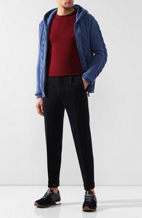 Мужской шерстяные брюки KNT темно-синего цвета, арт. UPS0102K01S88 | Фото 2