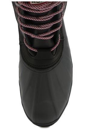 Мужские комбинированные сапоги HUNTER черного цвета, арт. MFS9113FGL | Фото 5