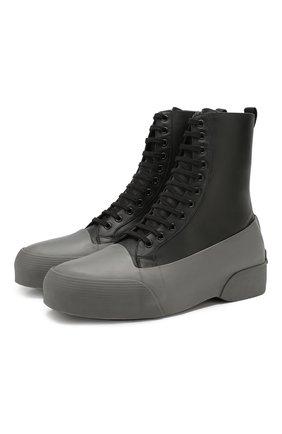 Мужские комбинированные ботинки DRIES VAN NOTEN серого цвета, арт. MW26/398/QU268 | Фото 1