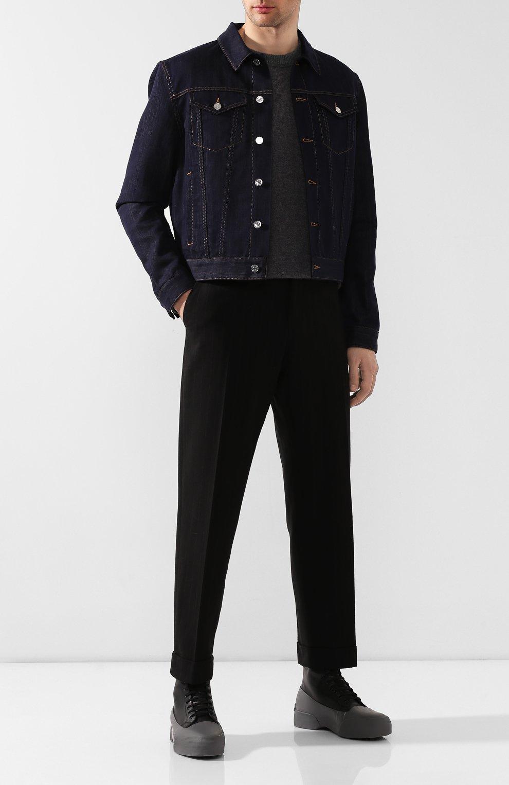 Мужские комбинированные ботинки DRIES VAN NOTEN серого цвета, арт. MW26/398/QU268 | Фото 2