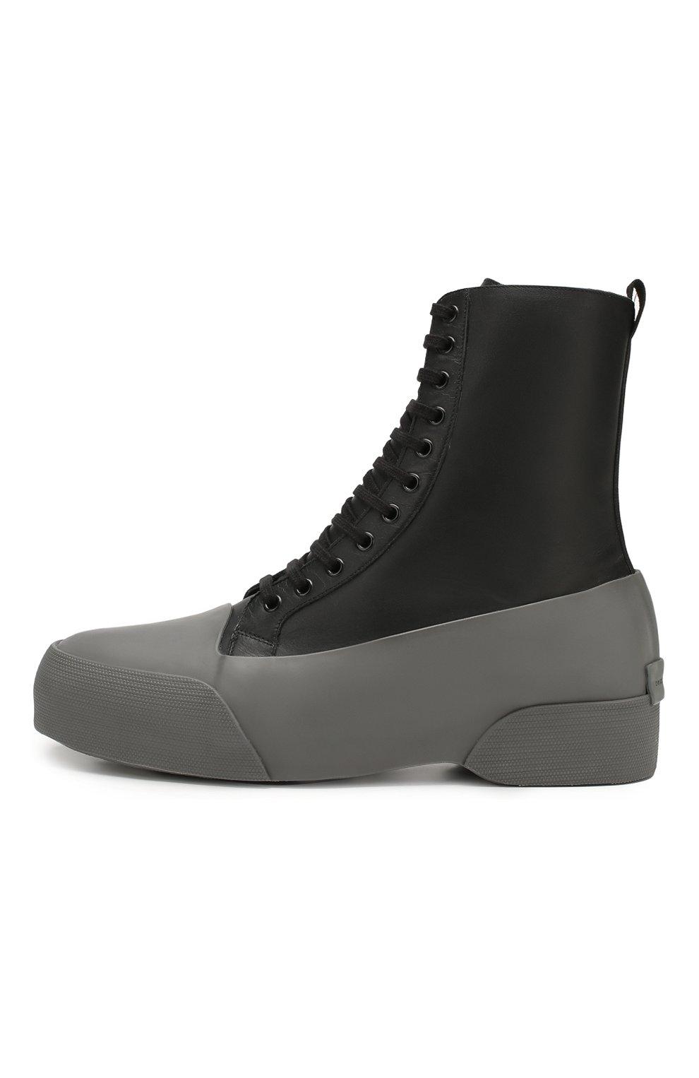 Мужские комбинированные ботинки DRIES VAN NOTEN серого цвета, арт. MW26/398/QU268 | Фото 3