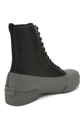 Мужские комбинированные ботинки DRIES VAN NOTEN серого цвета, арт. MW26/398/QU268 | Фото 4