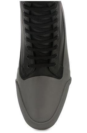 Мужские комбинированные ботинки DRIES VAN NOTEN серого цвета, арт. MW26/398/QU268 | Фото 5