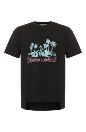Мужская хлопковая футболка 8 moncler palm angels MONCLER GENIUS черного цвета, арт. E2-09L-80032-50-829FK | Фото 1