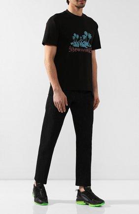 Мужская хлопковая футболка 8 moncler palm angels MONCLER GENIUS черного цвета, арт. E2-09L-80032-50-829FK | Фото 2
