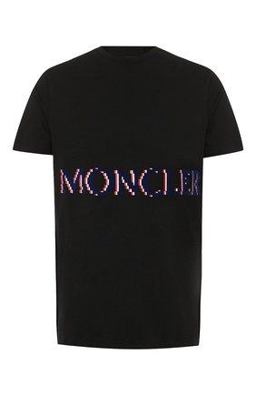 Мужская хлопковая футболка 2 moncler 1952 x valextra MONCLER GENIUS черного цвета, арт. E2-091-80047-50-8390T | Фото 1