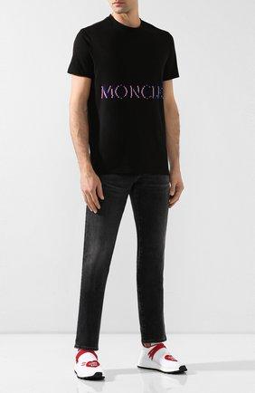Мужская хлопковая футболка 2 moncler 1952 x valextra MONCLER GENIUS черного цвета, арт. E2-091-80047-50-8390T | Фото 2