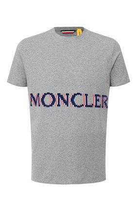 Мужская хлопковая футболка 2 moncler 1952 x valextra MONCLER GENIUS серого цвета, арт. E2-091-80047-50-8390T   Фото 1