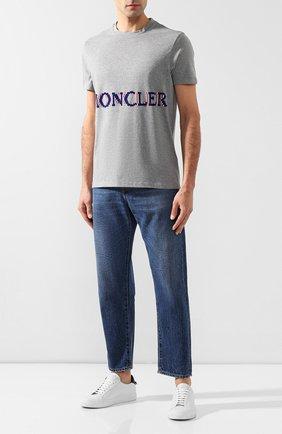 Мужская хлопковая футболка 2 moncler 1952 x valextra MONCLER GENIUS серого цвета, арт. E2-091-80047-50-8390T   Фото 2