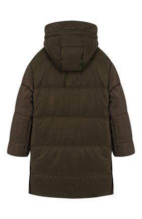 Детского пальто с капюшоном ERMANNO SCERVINO хаки цвета, арт. 45I PN06 TRA/10-16 | Фото 2