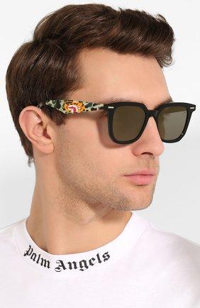 Мужские солнцезащитные очки BAPE зеленого цвета, арт. 1F70182048 | Фото 2