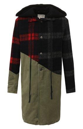 Мужской комбинированное пальто GREG LAUREN разноцветного цвета, арт. GLFW19-M029-M | Фото 1
