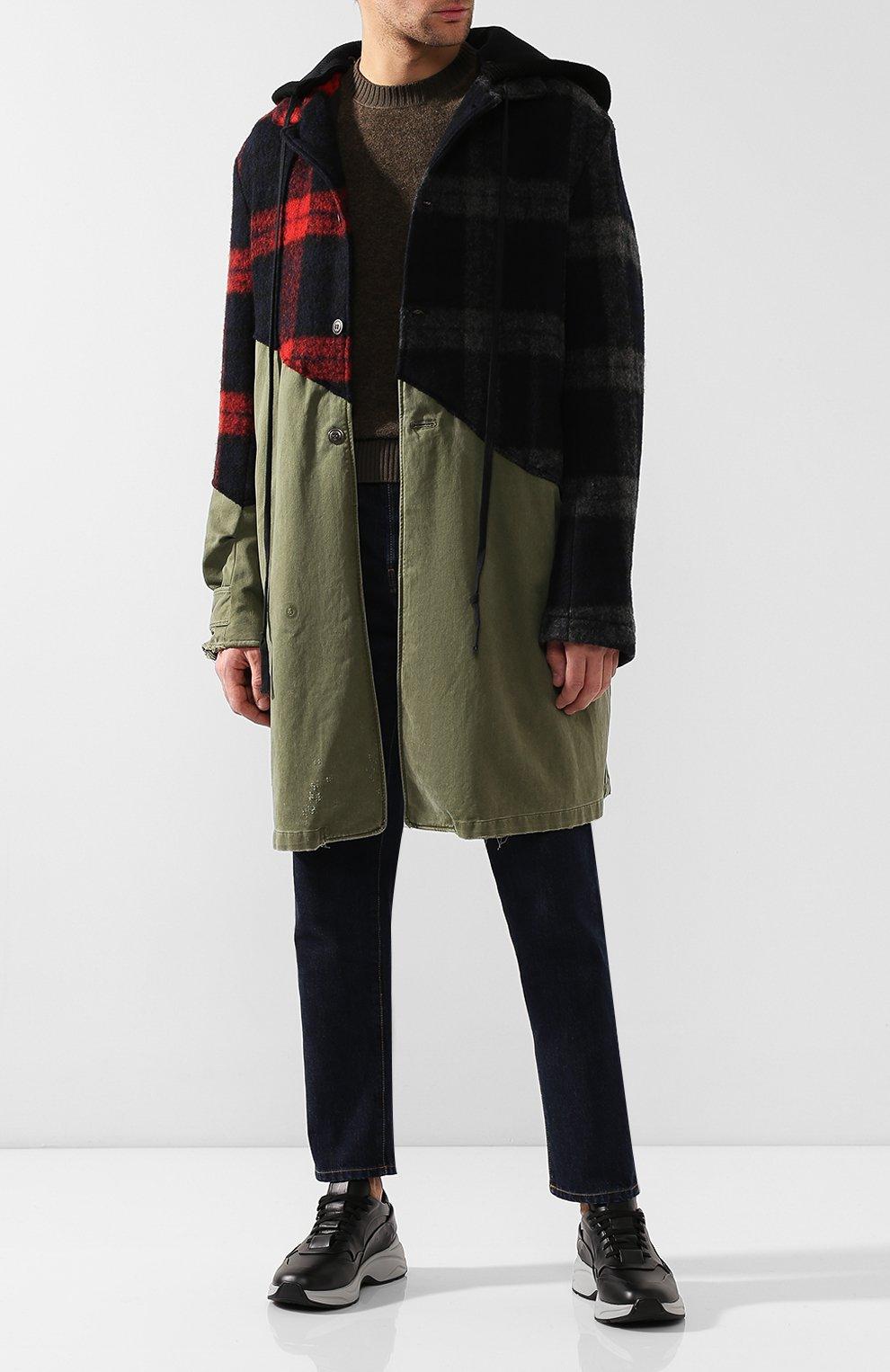 Мужской комбинированное пальто GREG LAUREN разноцветного цвета, арт. GLFW19-M029-M | Фото 2