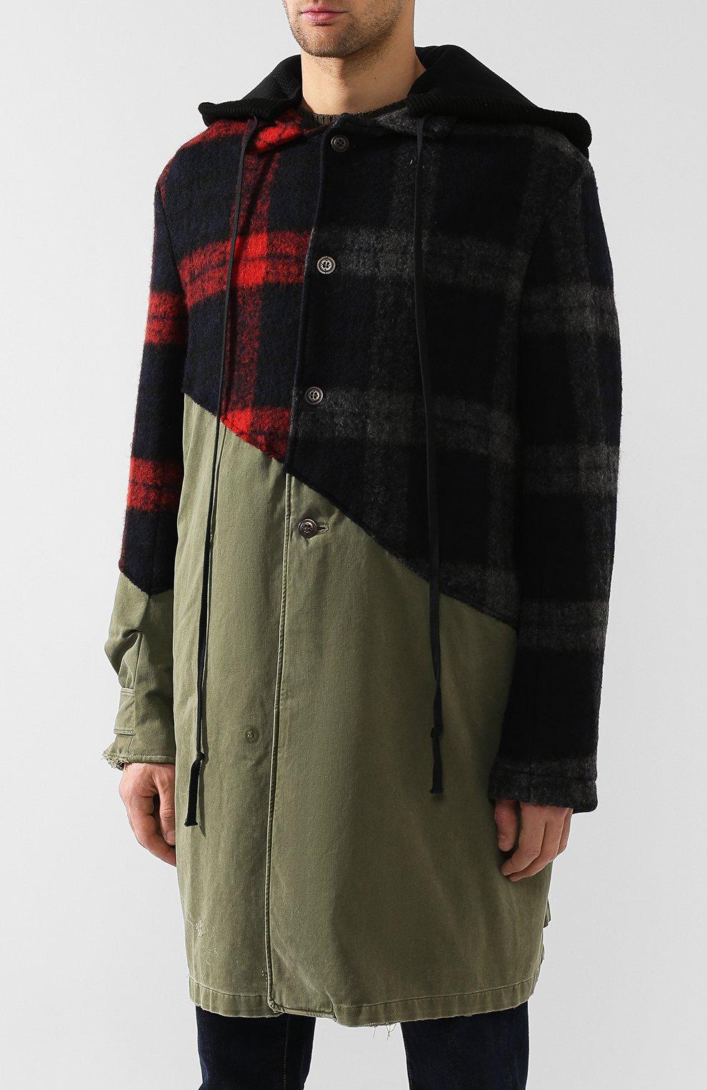 Мужской комбинированное пальто GREG LAUREN разноцветного цвета, арт. GLFW19-M029-M | Фото 3