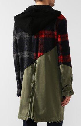 Мужской комбинированное пальто GREG LAUREN разноцветного цвета, арт. GLFW19-M029-M | Фото 4
