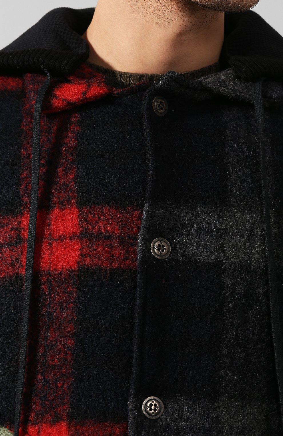 Мужской комбинированное пальто GREG LAUREN разноцветного цвета, арт. GLFW19-M029-M | Фото 5