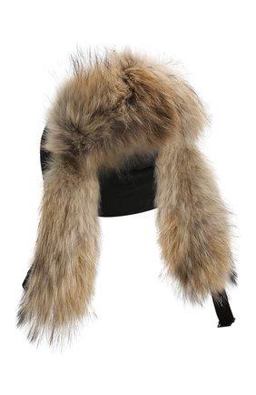 Женский шапка-ушанка CANADA GOOSE черного цвета, арт. 5187L | Фото 1