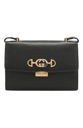 Женская сумка gucci zumi small GUCCI черного цвета, арт. 576388/1B90X   Фото 1 (Материал: Натуральная кожа; Размер: small; Ремень/цепочка: На ремешке; Сумки-технические: Сумки через плечо)
