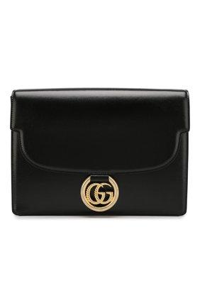 Женская сумка gg ring medium GUCCI черного цвета, арт. 589471/1DB0G | Фото 1
