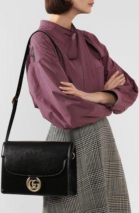 Женская сумка gg ring medium GUCCI черного цвета, арт. 589471/1DB0G | Фото 2
