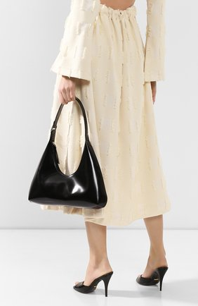Женская сумка amber BY FAR черного цвета, арт. 19PFAMRSBLWLAR   Фото 2